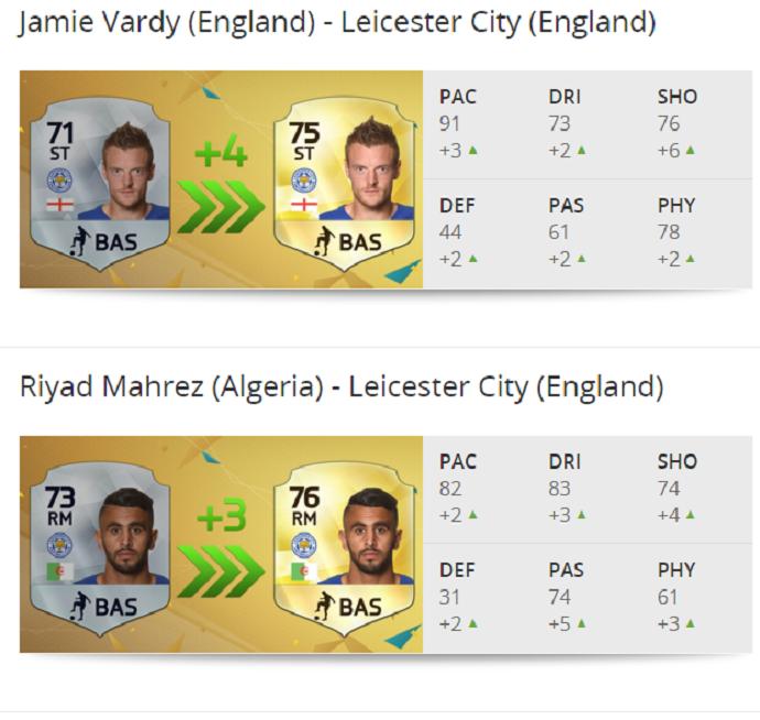 Vardy Mahrez fifa 16