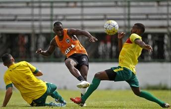 Com gol de Sassá, titulares do Bota vencem jogo-treino contra Portuguesa