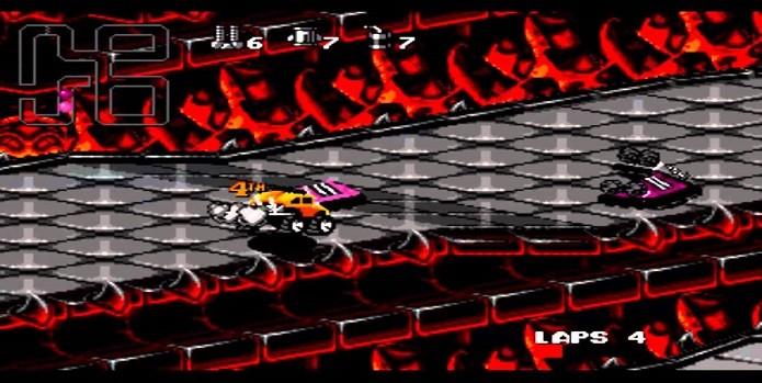 Melhores jogos de corridas do SNES: Rock nRoll Racing (Fonte: Reprodução/YouTube)