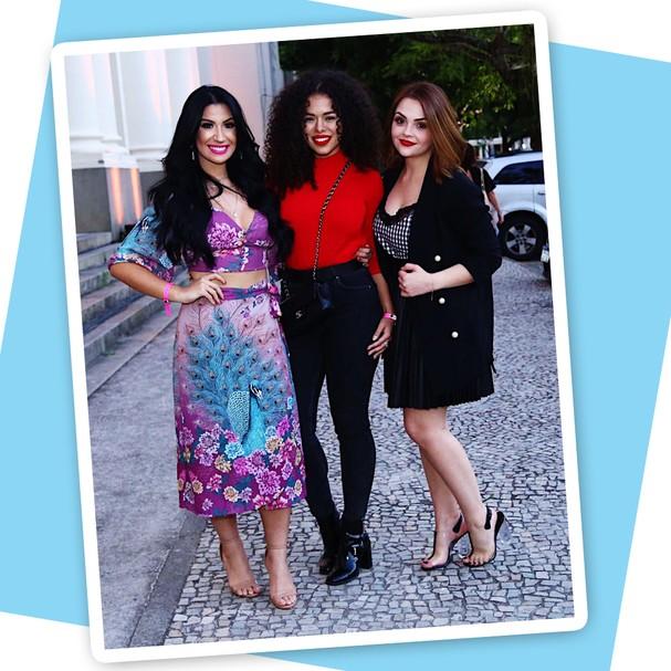 As youtubers Karol Pinheiro, Rayza Nicacio e Bianca Andrade  (Foto: Roberto Filho)