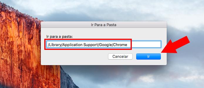 Vá até a pasta do Chrome no Mac (Foto: Reprodução/Paulo Alves)