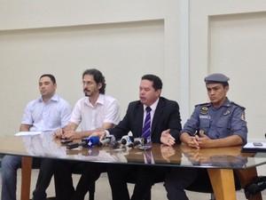 Cúpula da segurança pública do Amapá anunciou medidas para o seto do estado (Foto: Abinoan Santiago/G1)