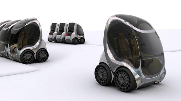 Empresa cria carro dobrável para aluguel contra congestionamentos (Foto: BBC)