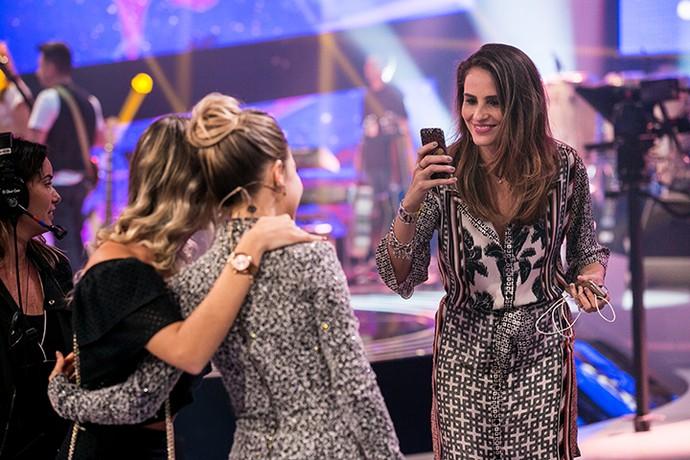 A top Fernanda Tavares tietou Sandy no 'SuperStar' (Foto: Isabella Pinheiro/Gshow)
