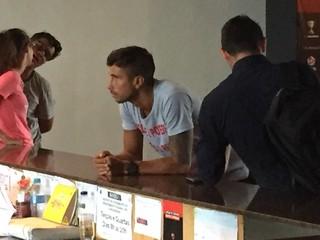 Mugni na Gávea nesta quarta-feira: jogador encerra contrato com o Fla (Foto: GloboEsporte.com)