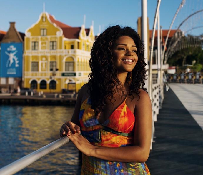 Juliana Alves curtiu os dias de sol em Curaçao (Foto: Arquivo Pessoal)