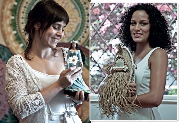 """À esquerda, Andréa, artista plástica conectada a Iemanjá. Em casa, faz banhos e orações. À direita, Janaína, """"filha de Omulu"""" e ativista pelos direitos da mulher negra (Foto: Rogério Assis)"""