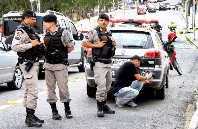 Policia Militar reforça segurança em Campina Grande para Clássico dos Maiorais (Foto: Nelsina Vitorino / Jornal da Paraíba)
