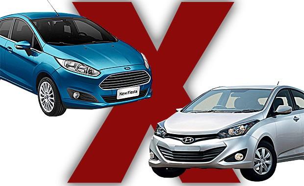 New Fiesta ou HB20: qual comprar? (Foto: Autoesporte)