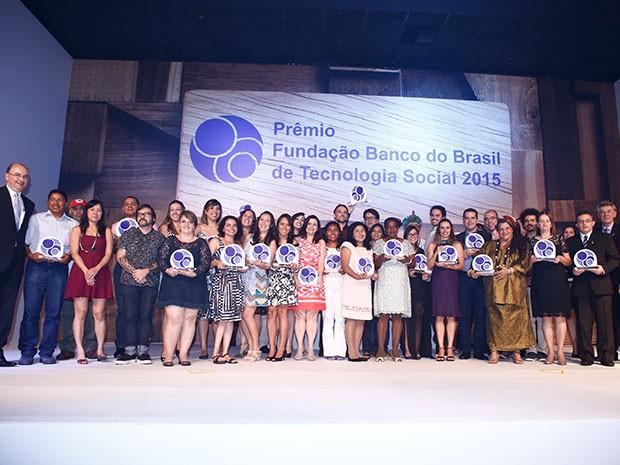 Fundação Banco do Brasil premiou 18 finalistas nesta terça em Brasília (Foto: Fundação Banco do Brasil/Divulgação)