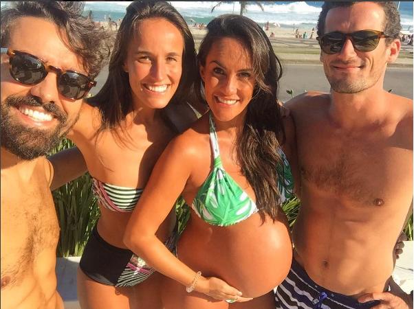 Francisca Pinto e Ricardo Pereira em família (Foto: Reprodução/Instagram)
