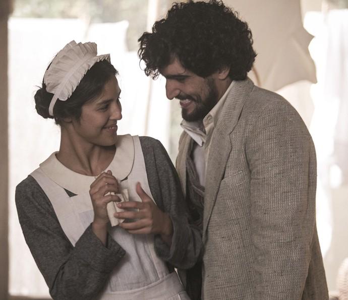 Yanna será a doce criada de Mariana e terá um caso com Vicente, fiel escudeiro de Augusto (Foto: Raphael Dias/Gshow)