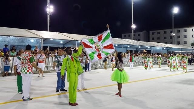 Ensaio técnico da escola de samba Grande Rio na Passarela Dráuzio da Cruz (Foto: Roberto Strauss)