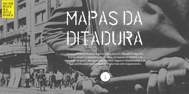 Site sobre a ditadura brasileira foi lançado nesta sexta (Foto: Reprodução)