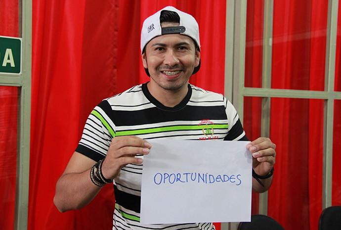 George, vocalista do Forró Ideal (Foto: Katiúscia Monteiro/ Rede Amazônica)