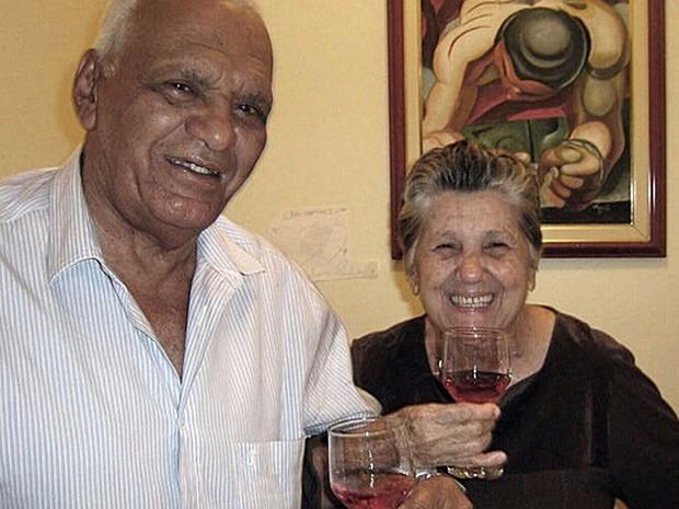 José de Freitas e Mariety Amorim, que foram casados durante 56 anos (Foto: Luana de Freitas/Arquivo Pessoal)