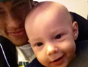 Neymar e o filho Davi Lucca (Foto: Reprodução/Instagram)