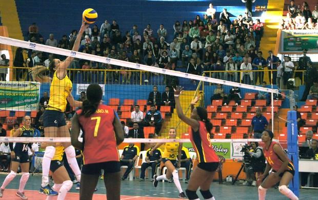 Vôlei Brasil e Colômbia  (Foto: Thierry Gozzer)