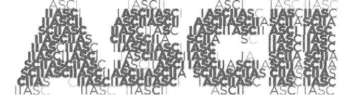 Código ASCII (Foto: Reprodução/André Sugai)