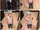 Amaury Nunes posta foto de filho de Danielle Winits 'estiloso'