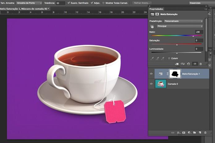 Mova o slider para alterar as cores (Foto: Reprodução/André Sugai)