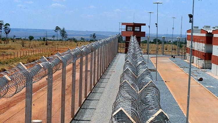 A Penitenciária Federal de Brasília, com inauguração prevista para janeiro de 2018, segundo o Ministério da Justiça (Foto: Ministério da Justiça)