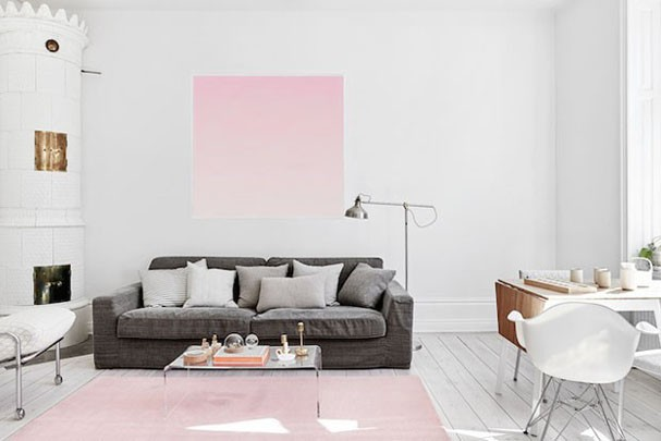 Decorar con rosa cuarzo, color Pantone 2016