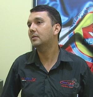 Bulhosa, novo presidente do Vilhena (Foto: Reprodução/TV Vilhena)