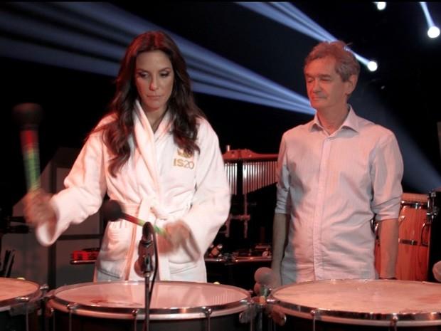 Serginho Groisman visita a cantora Ivete Sangalo em São Paulo (Foto: TV Globo/Altas Horas)