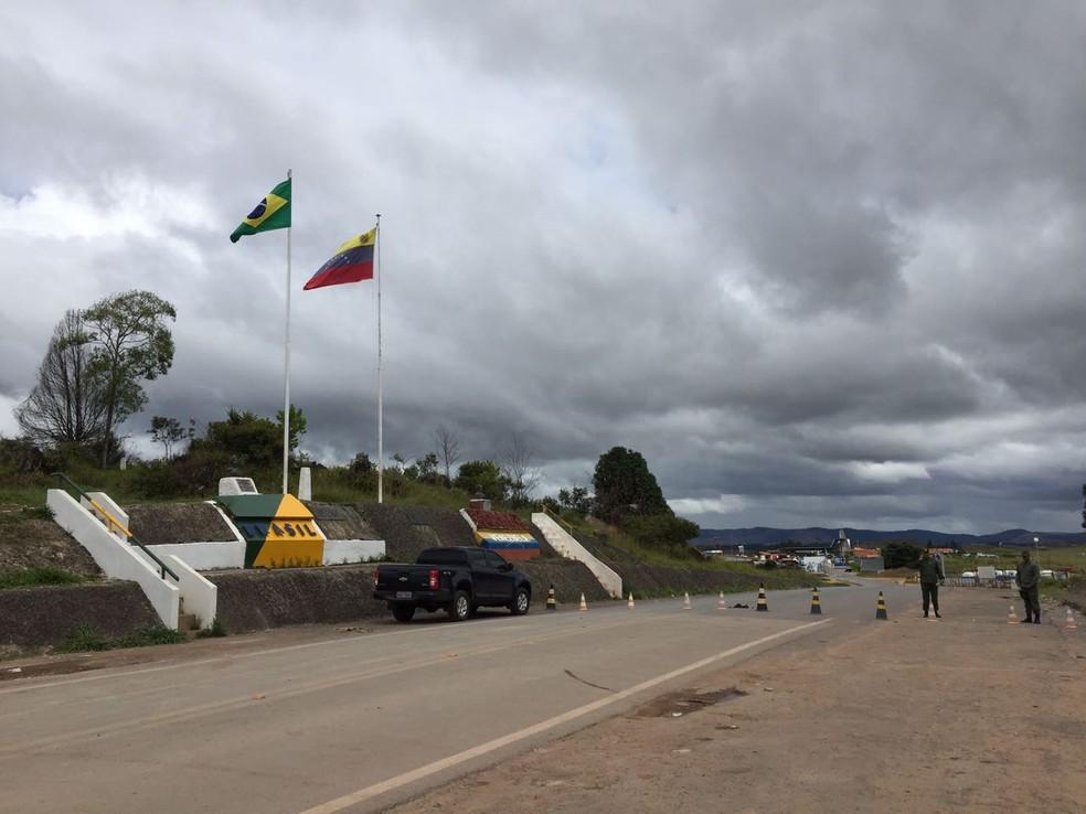 Fronteira entre Brasil e Venezuela, no Norte de Roraima (Foto: Inaê Brandão/G1 RR/Arquivo)