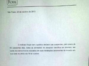 Prefeitura suspende alvará do Instituto Royal em São Roque (Foto: Adriana Perroni/TV TEM)