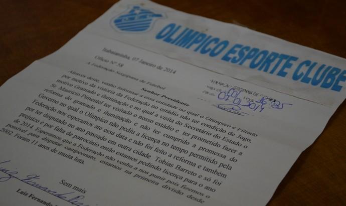 Olímpico desistiu da disputa do Sergipão 2014 (Foto: Felipe Martins/GLOBOESPORTE.COM)