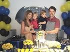 Marcelo Serrado comemora aniversário dos filhos gêmeos