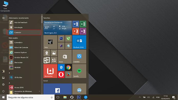 Windows 10 ganhou aplicativo Conectar no Anniversary Update (Foto: Reprodução/Elson de Souza)