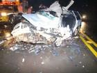 Batida frontal em rodovia do interior do PR deixa três mortos e seis feridos