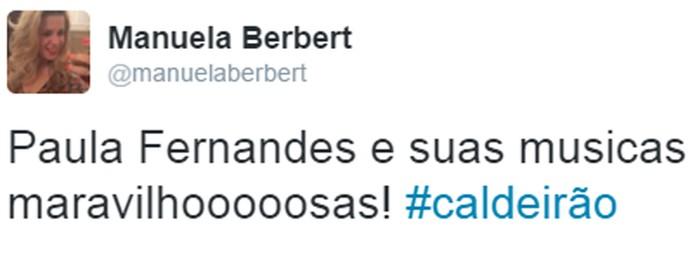 Internauta elogia Paula Fernandes (Foto: Reprodução)