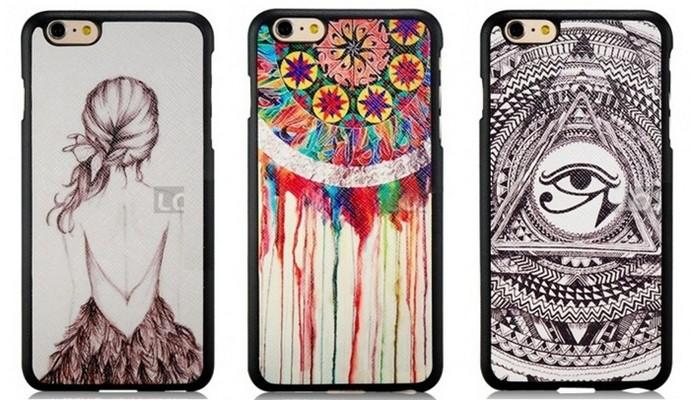 Cases para iPhone 6 Plus com ilustrações alternativas (Foto: Divulgação/Loja Império)