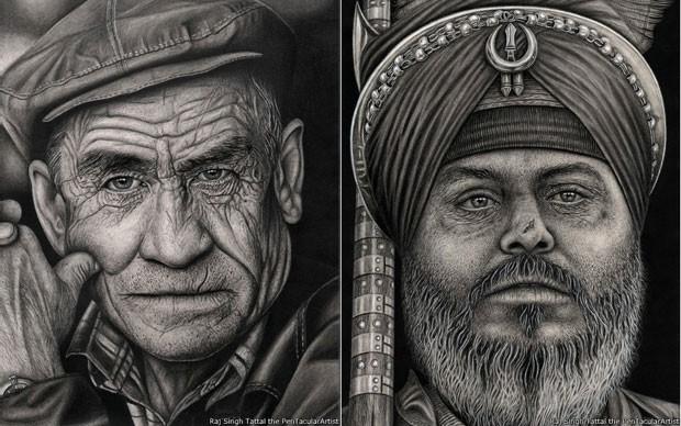 Singh Tattal conta que já bebeu muito para tentar se encaixar na sociedade (Foto: Raj Singh Tattal/The PenTacular Artist)