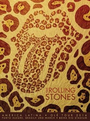 991aa7f7b Site dos Rolling Stones publicou cartaz de divulgação do show em Porto  Alegre (Foto