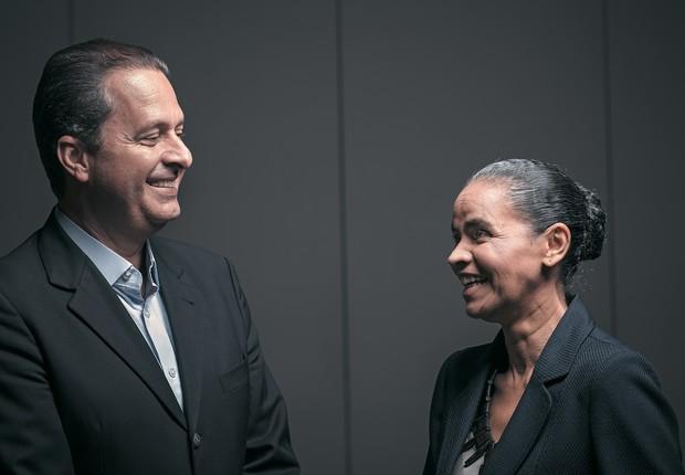 UNIÃO Eduardo Campos e Marina Silva em São Paulo na quinta-feira, dia 10. A aliança foi ideia dela (Foto: NaLata)