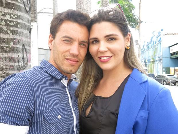 Recuperado, Rafael planeja se casar com a jornalista Clarissa (Foto: Lívia Torres/G1)
