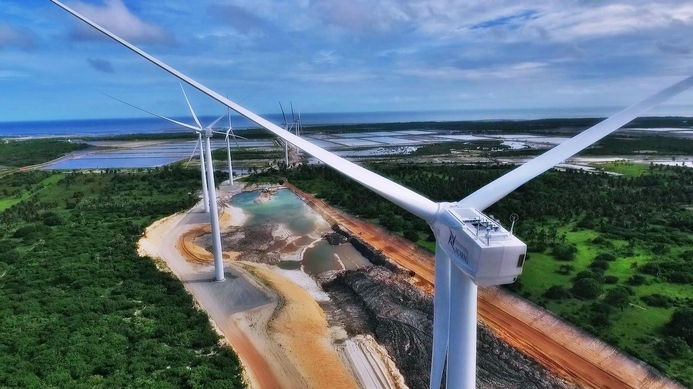 Mais energia limpa: catorze turbinas farão parte do parque eólico (Foto: Divulgação)