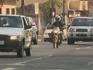 Número de motofretistas aumentou 20% em Piracicaba (Foto: Reprodução/EPTV)