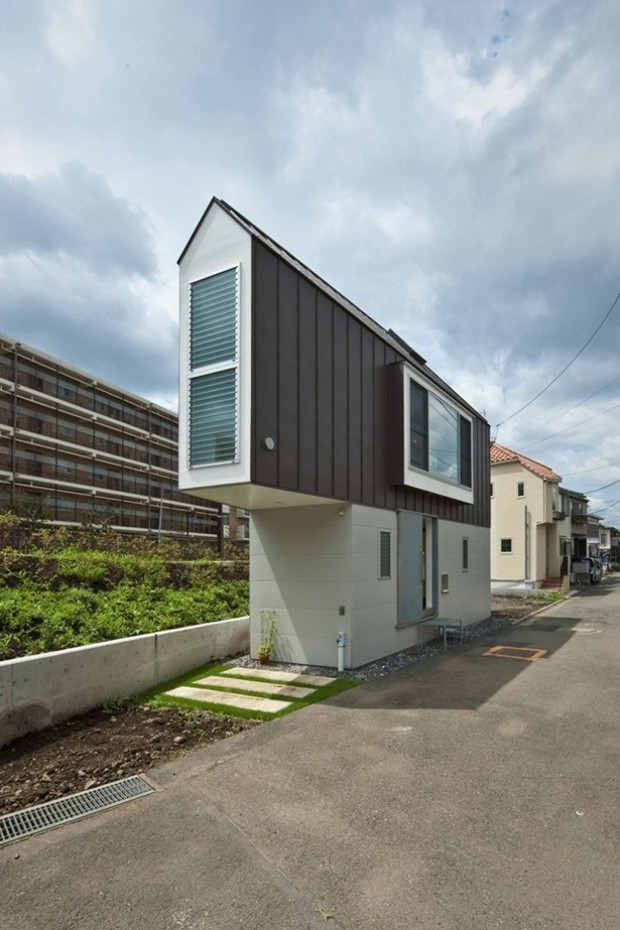 Casa triangular de apenas 29 m² é desenvolvida no Japão (Foto:  Hiroshi Tanigawa)