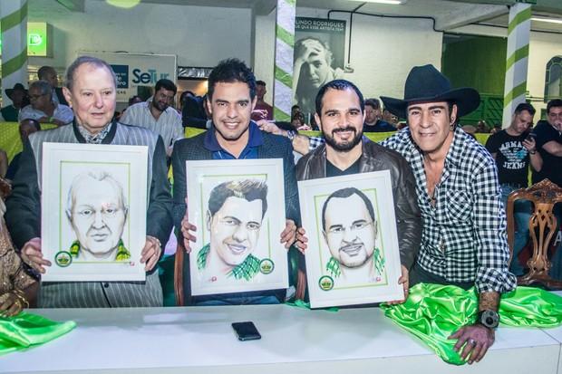 Luizinho Drummond, Luciano, Zezé e Elymar Santos (Foto: Divulgação/Leandro Ribeiro)