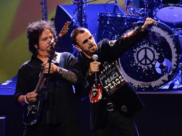 Ringo Starr se apresenta em São Paulo nesta terça-feira (29) no Credicard Hall. (Foto: Flavio Moraes/G1)