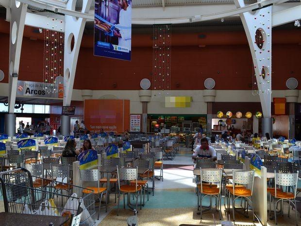 Sem o boicote, este local do Shopping Jardins estaria lotado (Foto: Marina Fontenele/G1 SE)