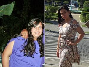 Andresa chegou quase aos 100 kg e ouviu do médico que não tinha chance de engravidar (Foto: Arquivo pessoal/Andresa Gravino Corrêa)