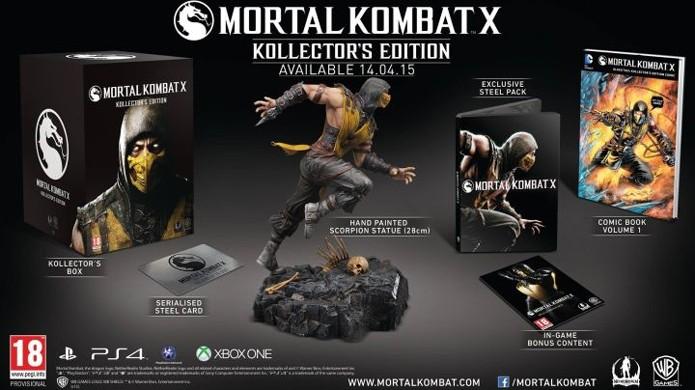 A edição de colecionador oficial de Mortal Kombat X conta com mais extras (Foto: Reprodução/IGN)
