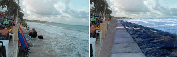 Prefeitura divulgou imagens de como ficará a praia após a intervenção (Foto: Divulgação/Prefeitura de Natal)